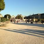 Park parijs bij Louvre